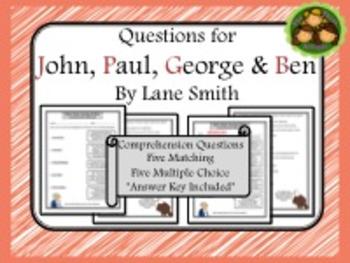 John, Paul, George & Ben Comprehension Questions