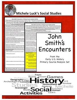 John Smith Native Encounters American Document Analysis Ac