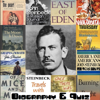 John Steinbeck Biography and Quiz