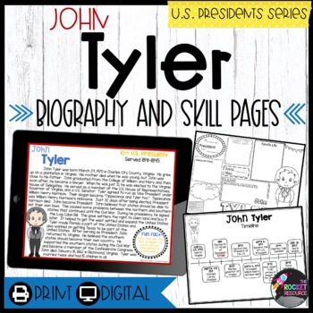 John Tyler: Biography, Timeline, Graphic Organizers, Text-