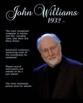 John Williams printable poster