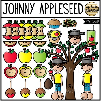 Johnny Appleseed (Clip Art for Personal & Commercial Use)