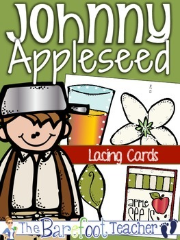 Johnny Appleseed Lacing Cards