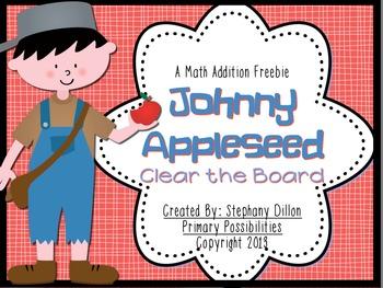 Johnny Appleseed Clear the Board Math Freebie!