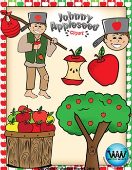 Johnny Appleseed Clip Art {Watson Works Clip Art/Graphics}