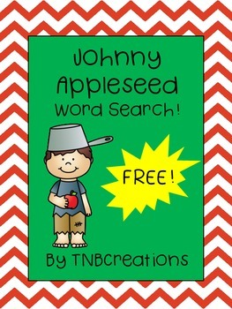 Johnny Appleseed FREE Word Search