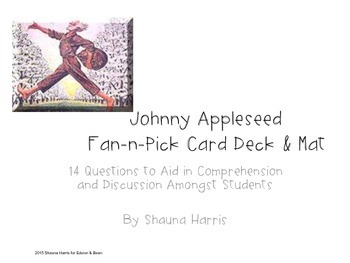 Johnny Appleseed Fan & Pick Cards (Trophies 2nd grade)