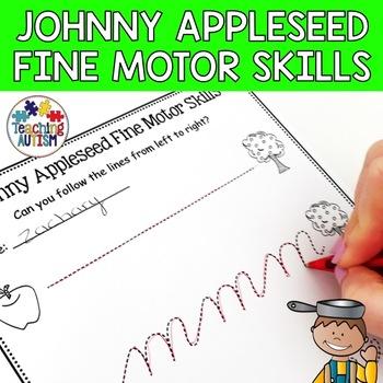 Johnny Appleseed Fine Motor Skill Worksheets