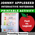 Johnny Appleseed Day Activities Interactive Notebook ~ Fact vs. Legend { Myth }