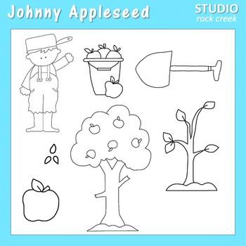 Johnny Appleseed Line Art  C. Seslar