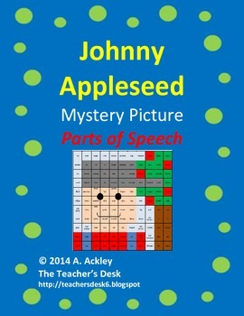 Johnny Appleseed Mystery Picture Parts of Speech
