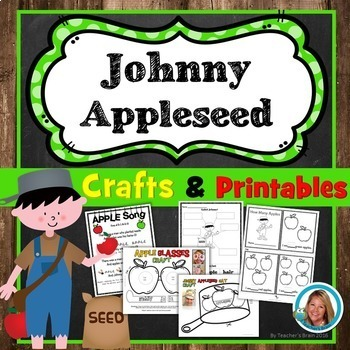 Johnny Appleseed Printables and Apple Crafts Unit