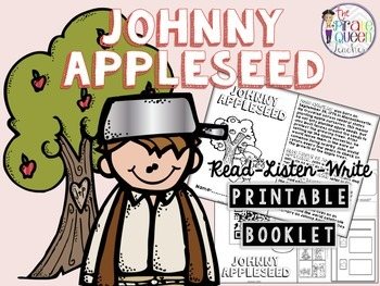 Johnny Appleseed Read-Listen-Write Printable Booklet for D