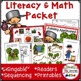 Johnny Appleseed Song with Literacy  & Math Activities