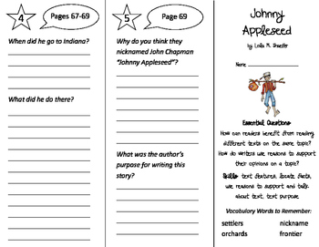 Johnny Appleseed Trifold - ReadyGen 2016 2nd Grade Unit 5