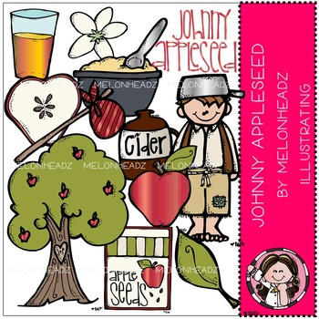 Melonheadz: Johnny Appleseed clip art - COMBO PACK