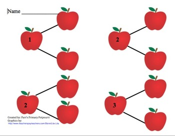 Johnny Appleseed number bonds to 10 Singapore Math