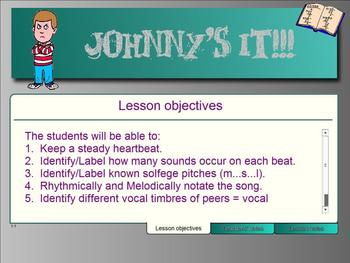 Johnny's It - A Vocal Exploration and Duration of Sound Lesson