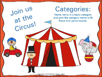 Join us at the Circus: Categories