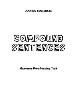 Joining Sentences - Compound Sentences
