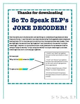 Joke Decoder - Brainstorm Meanings of Jokes/Idioms!