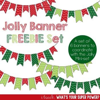 Jolly Christmas Banners FREEBIE