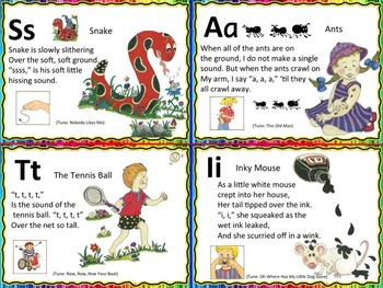 Jolly Jingles Mini Flashcards or Wall Chart (Complete Set)
