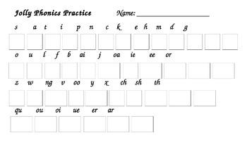 Jolly Phonics Assessment (Lowercase)