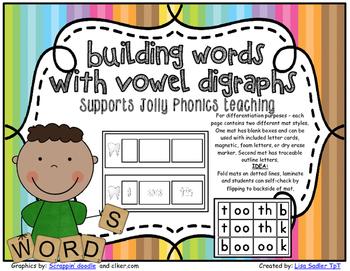 Phonics Building Vowel Digraph Words
