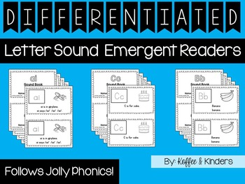 Differentiated Jolly Phonics Frieze 1-7 Letter Sound Books