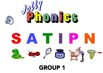 Jolly Phonics Group 1 and Group 2 Blending Powerpoint with AUDIO