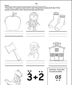 Phonics Letter A worksheets