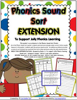 Phonics Sound Sort EXTENSION Worksheets