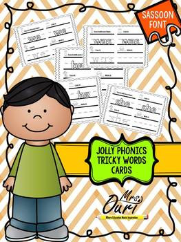 Tricky Words cards (literacy center)