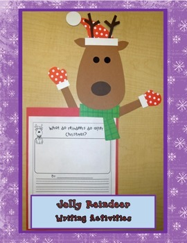 Jolly Reindeer - Writing Activities and Craft