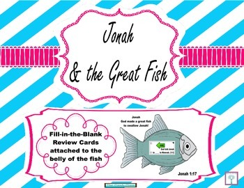 Jonah Fill-in-the-Blank Review Cards Freebie