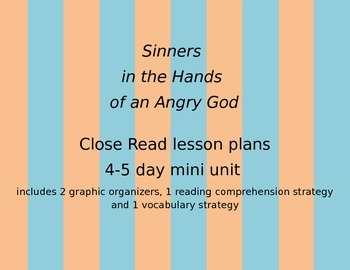 """Jonathan Edwards """"Sinners in the Hands of an Angry God"""" Le"""