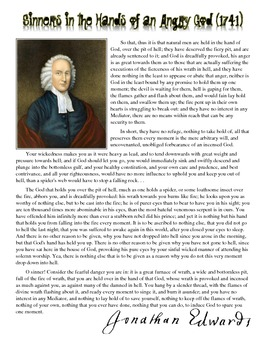 "Jonathan Edwards - ""Sinners in the Hands of an Angry God"""
