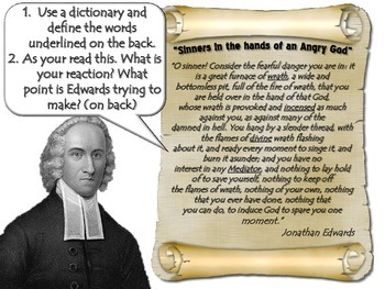 """Jonathan Edwards """"Sinners in the hands of an Angry God"""""""