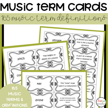 MUSIC : Terminology Cards for Senior Elective Students