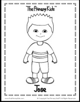 Jose Coloring Page - The Primary Kids