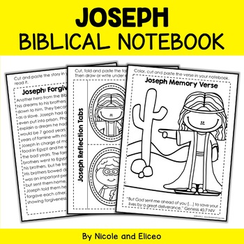 Joseph Interacitve Notebook Bible Unit