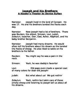 Joseph - A Reader's Theater