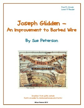 Joseph Glidden - An Improvement to Barbed Wire