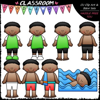 Josiah Gets Dressed For Swimming Clip Art - Sequence Clip Art