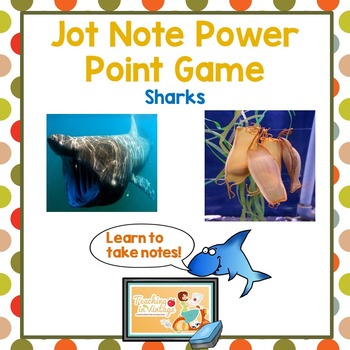 Jot Note Game to Improve Note Taking Skills-Sharks