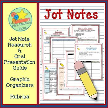 Jot Notes - Research and Oral Presentation Guide, Organize