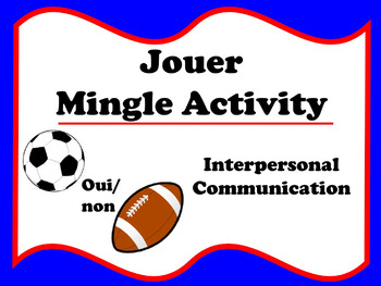 Jouer Mingle Activity (French sports)