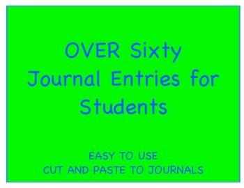Fiction Journal Entries