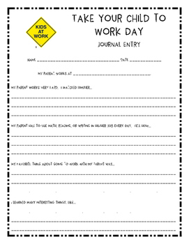Journal Entry: Take Your Child to Work Day